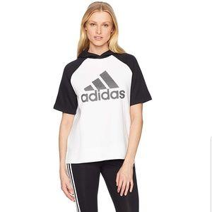 Adidas short sleeve hoody